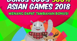 BONUS ODDS 500% Asian Games 2018